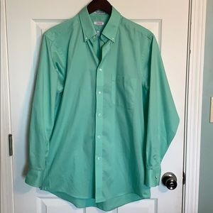 Men's Izod green button up dress shirt